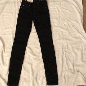 7 For All Mankind second skin high rise black